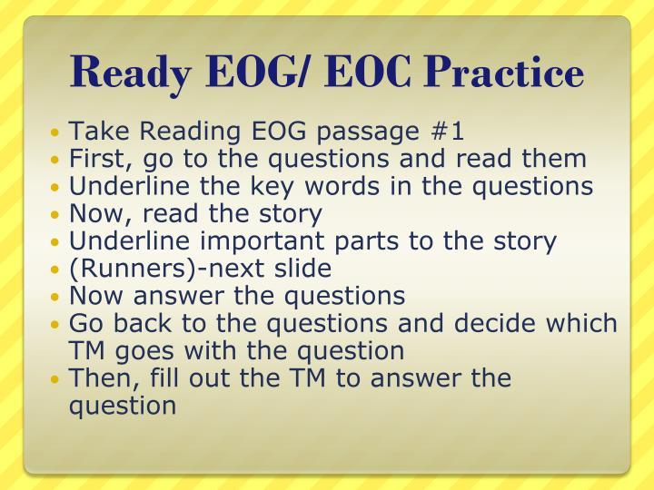 Ready EOG/ EOC Practice