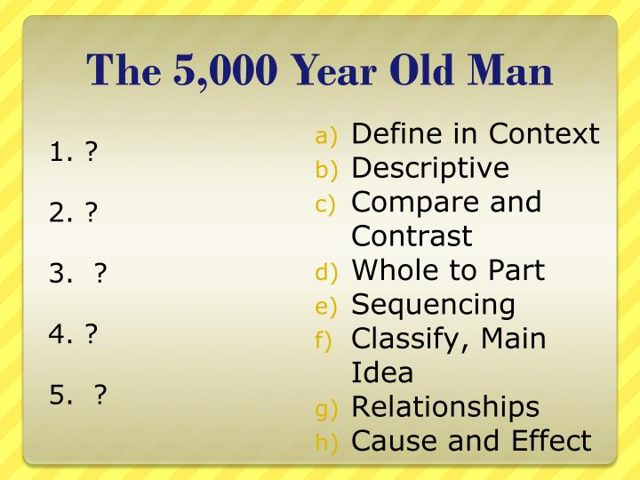 The 5,000 Year Old Man
