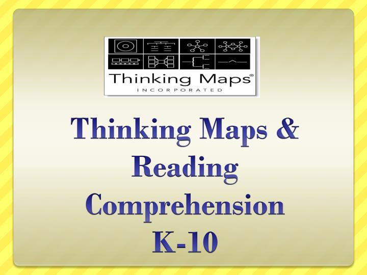 thinking maps reading comprehension k 10