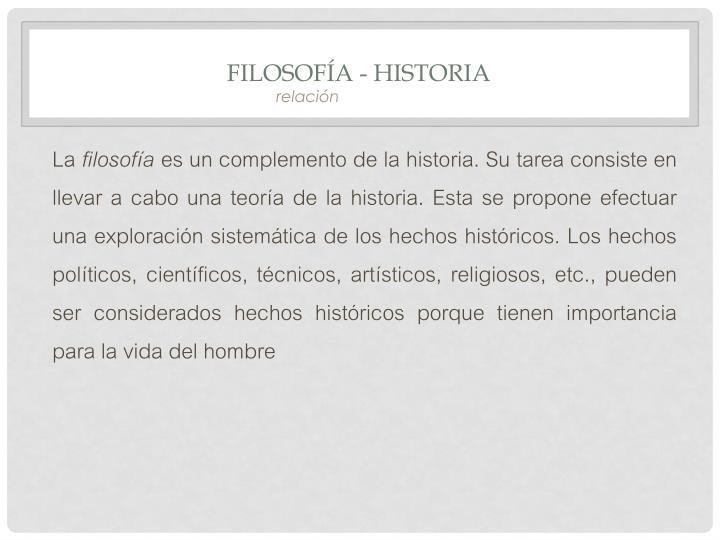 Filosofía - Historia