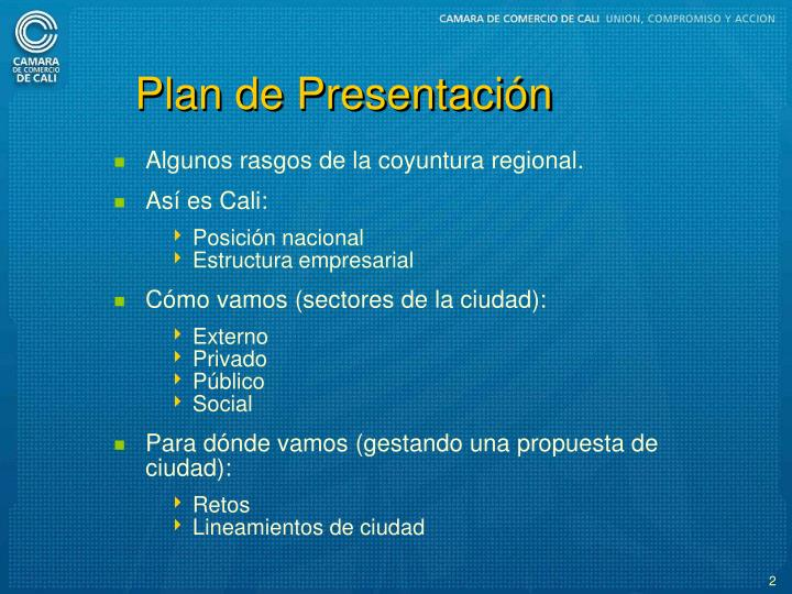 Plan de Presentacin