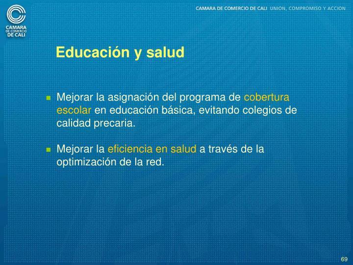 Educacin y salud