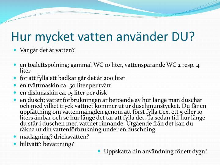 Hur mycket vatten använder DU?