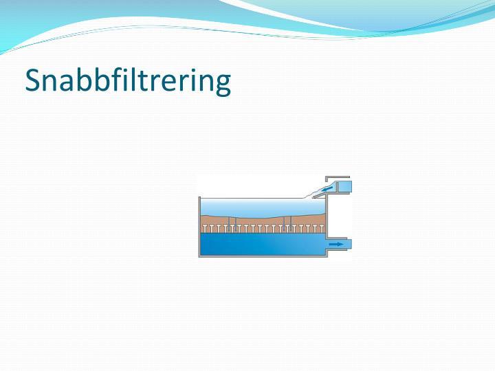 Snabbfiltrering
