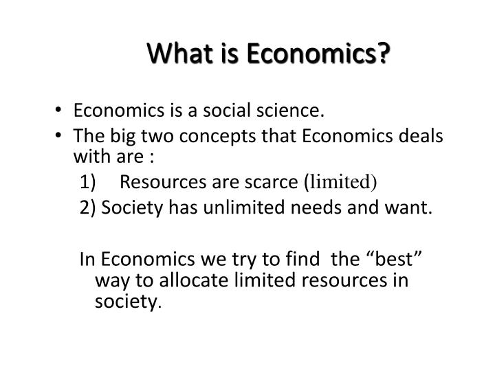 What is economics