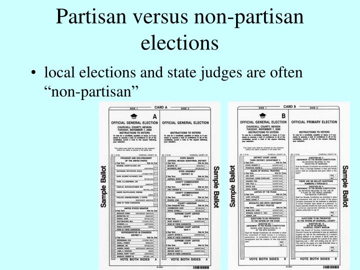 Partisan versus non-partisan elections