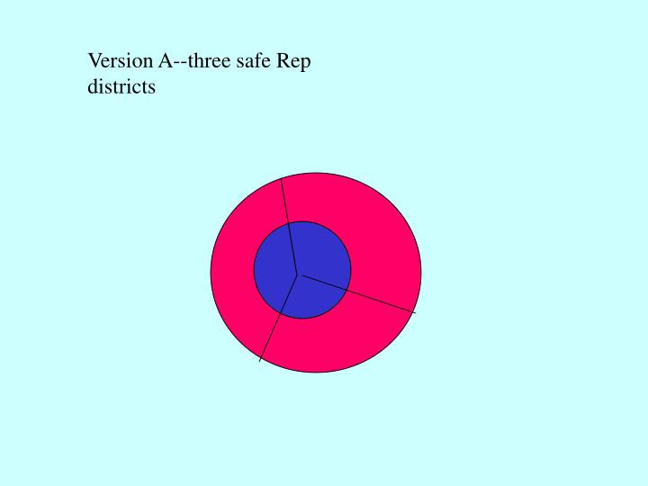 Version A--three safe Rep districts