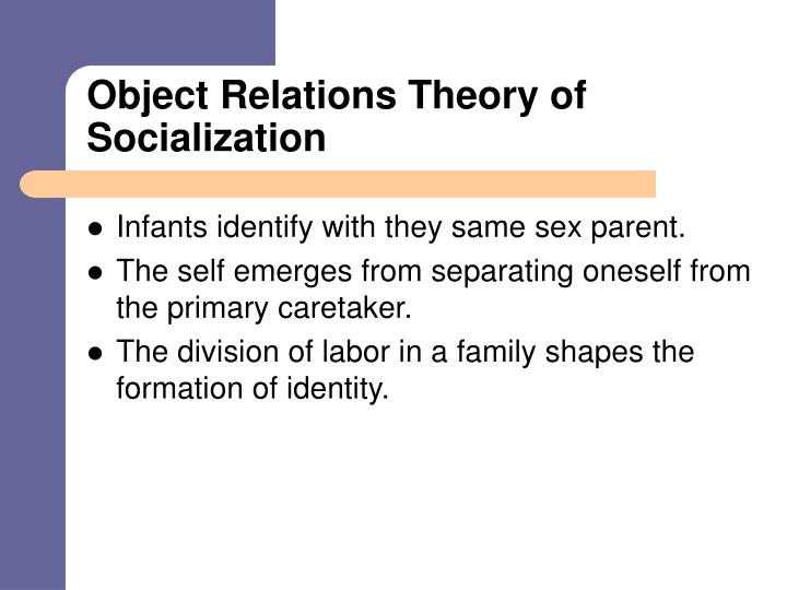 Object Relations Theory of Socialization