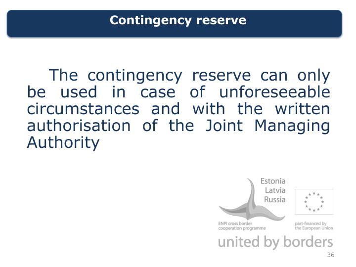Contingency reserve