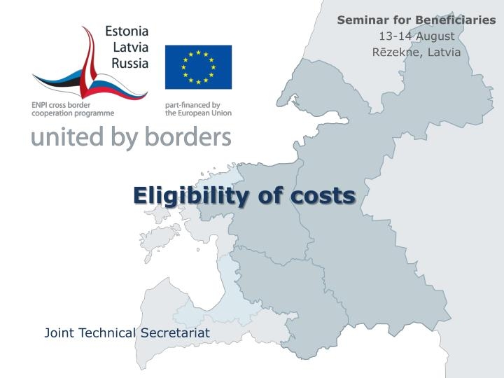 Eligibility of costs