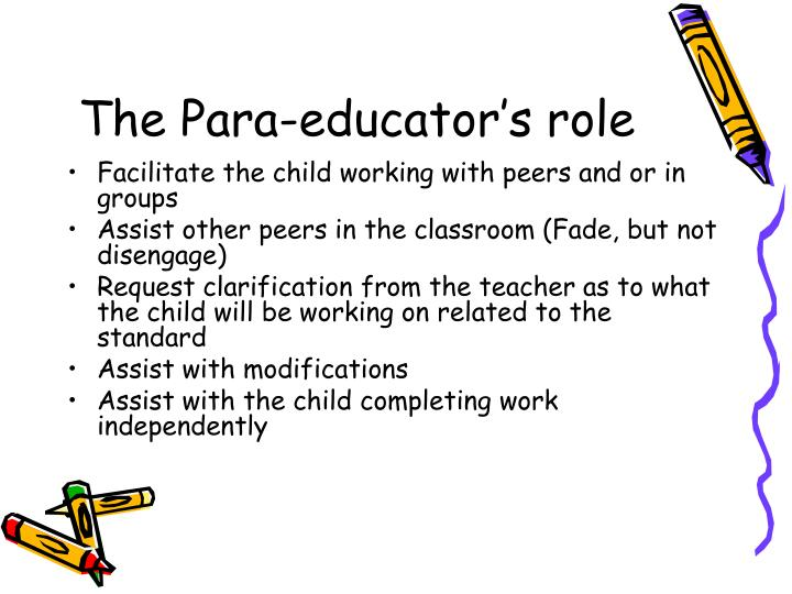 The Para-educator's role