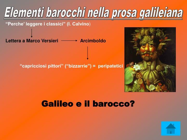 Elementi barocchi nella prosa galileiana