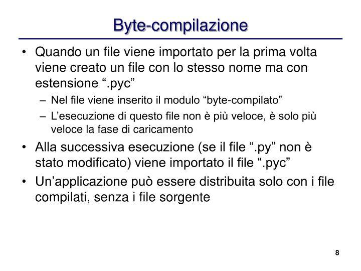 Byte-compilazione