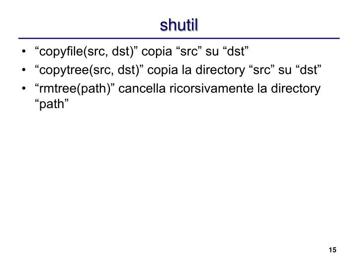 shutil