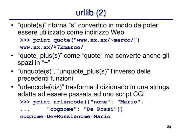 urllib (2)