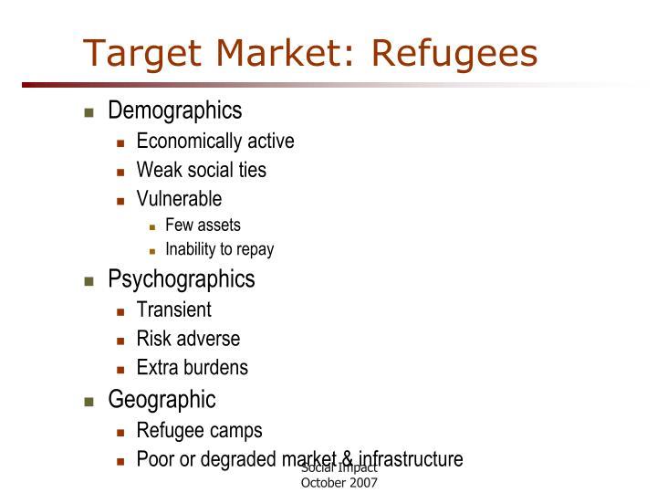 Target Market: Refugees