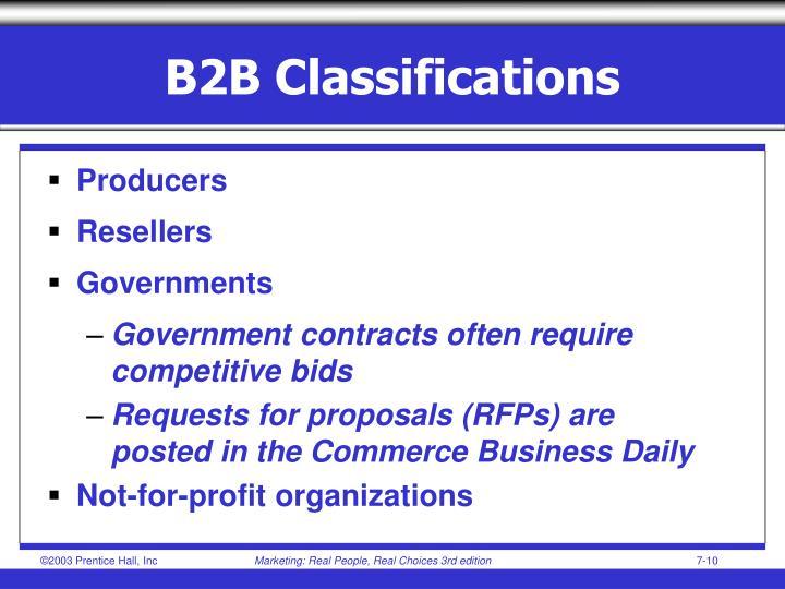 B2B Classifications