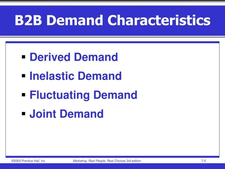 B2B Demand Characteristics