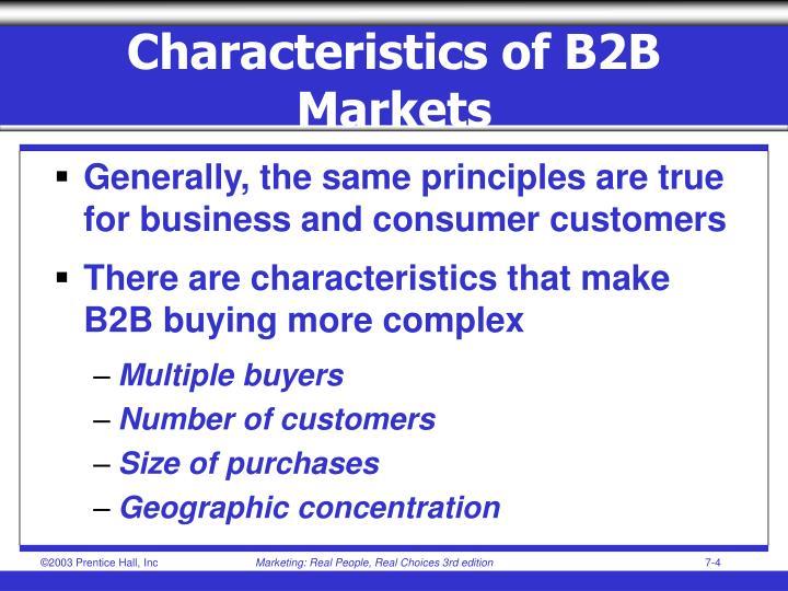 Characteristics of B2B Markets