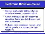 electronic b2b commerce