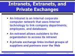 intranets extranets and private exchanges