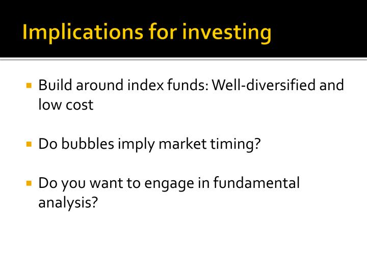 Implications for investing