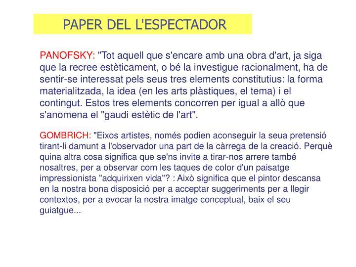 PAPER DEL L'ESPECTADOR