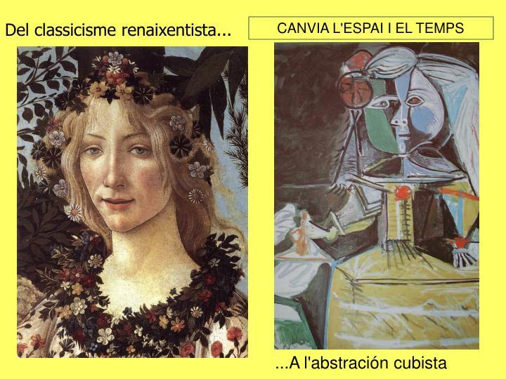 Del classicisme renaixentista...