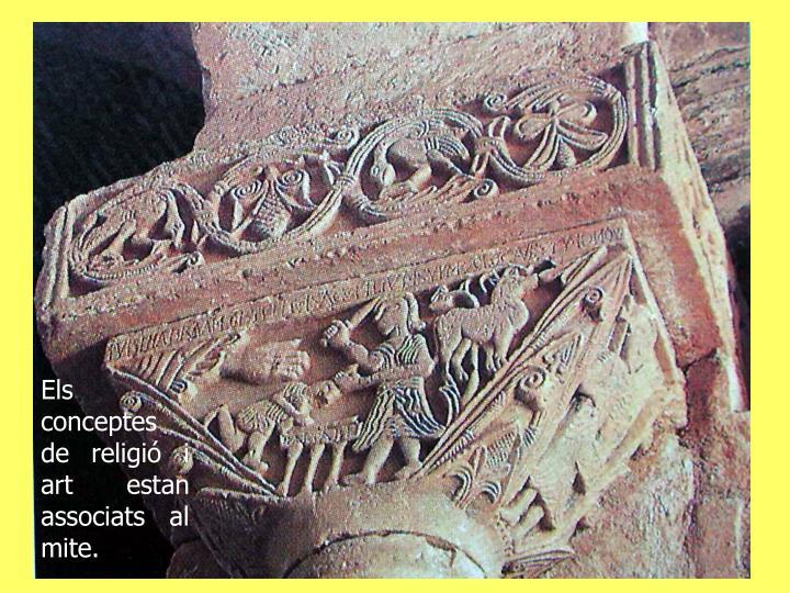 Els conceptes de religió i art estan associats al mite.