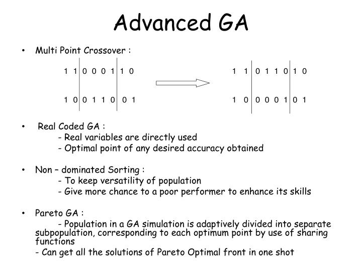 Advanced GA