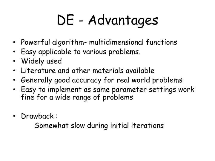DE - Advantages