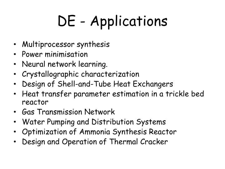 DE - Applications