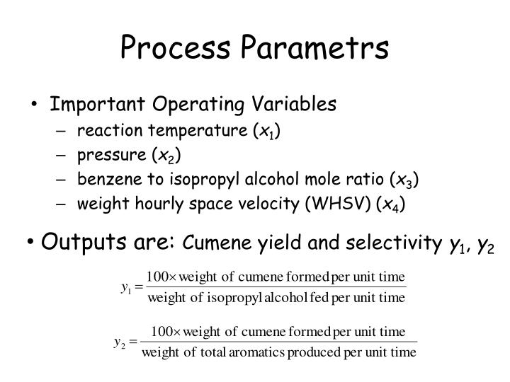 Process Parametrs