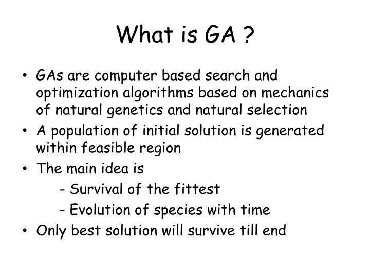 What is GA ?