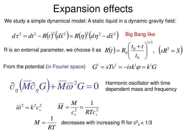 Expansion effects