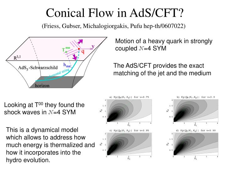Conical Flow in AdS/CFT?