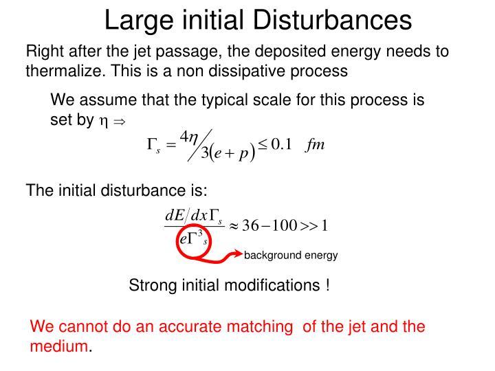 Large initial Disturbances