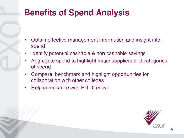 Benefits of Spend Analysis