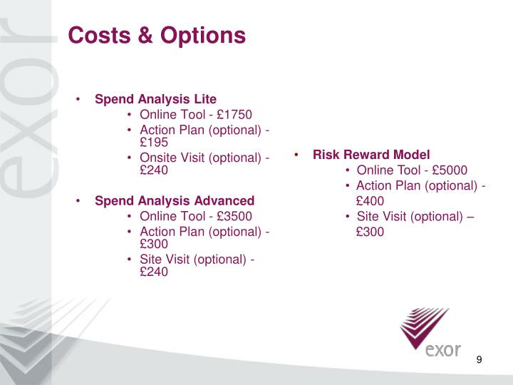 Costs & Options