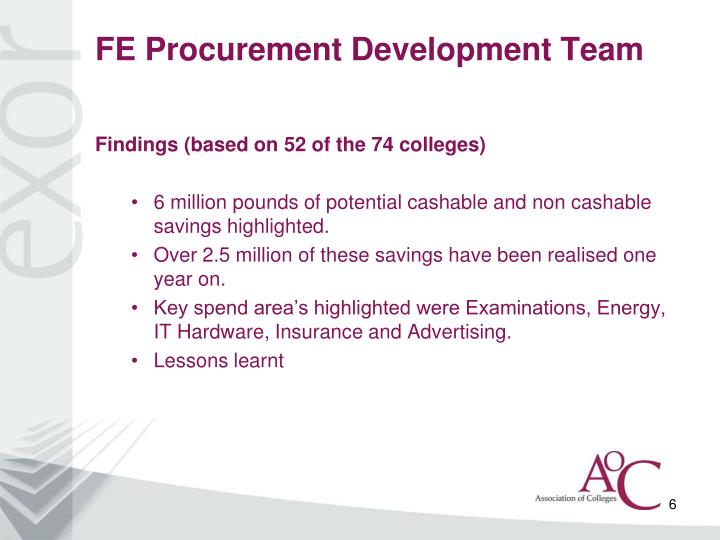 FE Procurement Development Team