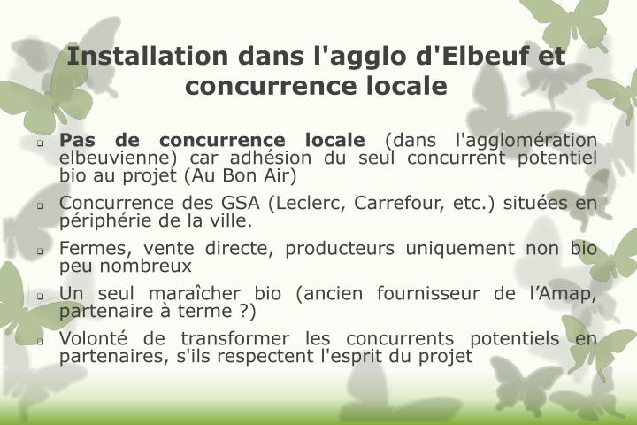 Installation dans l'agglo d'Elbeuf et concurrence locale