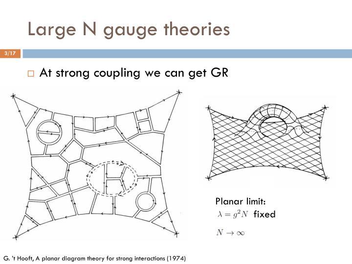 Large N gauge theories