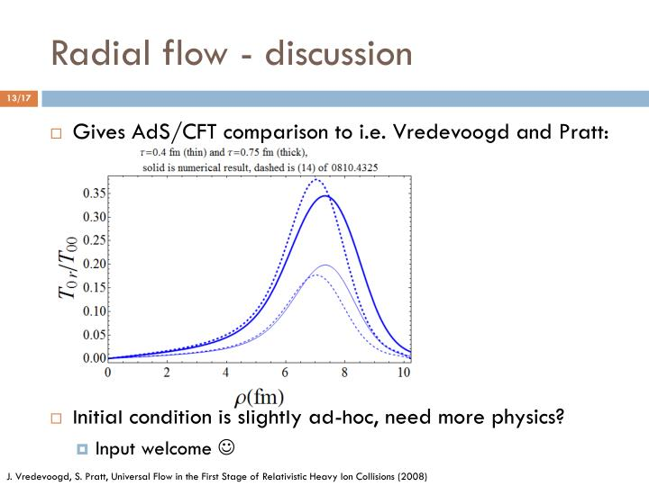 Radial flow - discussion