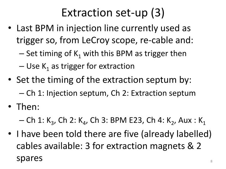 Extraction set-up (3)