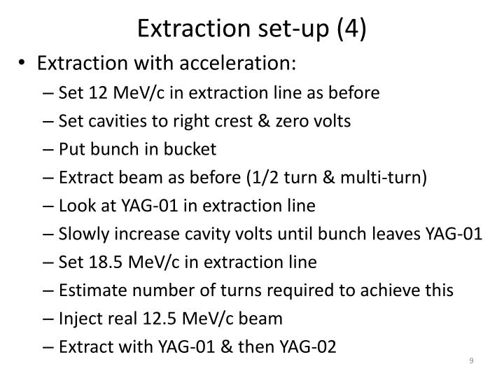 Extraction set-up (4)