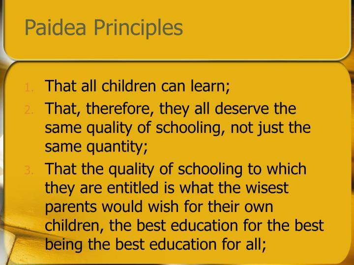Paidea Principles