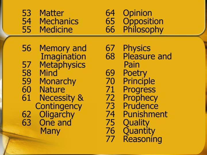 53  Matter
