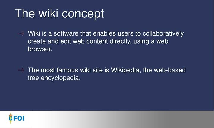 The wiki concept