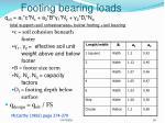 footing bearing loads