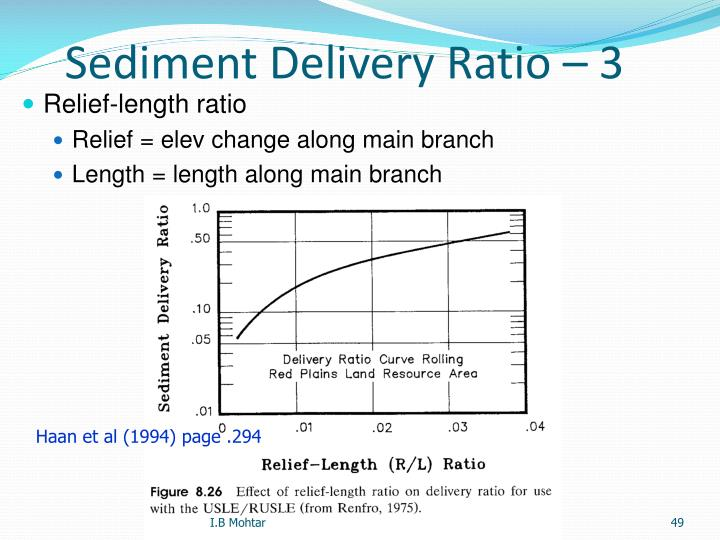 Sediment Delivery Ratio – 3